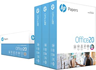 HP Printer Paper, Office20 Paper, 8.5 x 11 Paper, Letter Size, 92 Bright - 3 Ream / 1,500 Sheets (112090C)