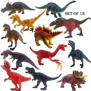 SaleON Set of 12 Big Size Dinosaur Toy Action Figure Animal Model Collection Learning & Educational Kids Gift Jurassic Sic...