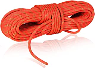 NewDoar 24KN 10mm (3/8in) Rock Climbing Rope High Strength Accessory Cord Safety CE for Outdoor Survival, Hiking, Mountaineering