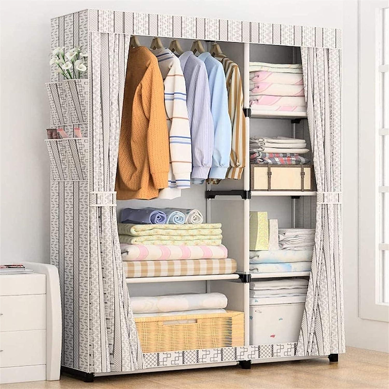 Home Standing Wardrobe Storage Po OFFicial site Portable Kansas City Mall Clothes Closet