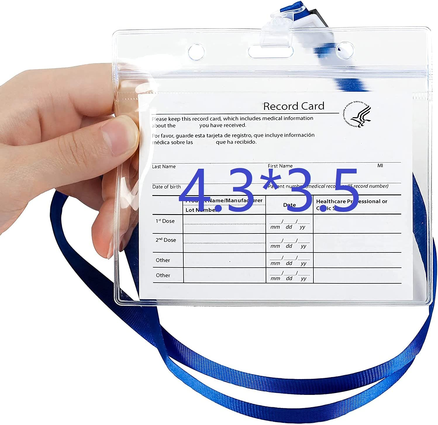 """2 Selling and selling Pack - 4.3""""X3.5"""" CDC Popular standard Card Wate Vaccination Protector"""