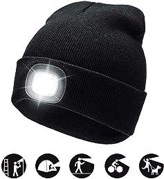 4 LED tricoté Chapeau léger Bonnet Chaud Bonnet Ho