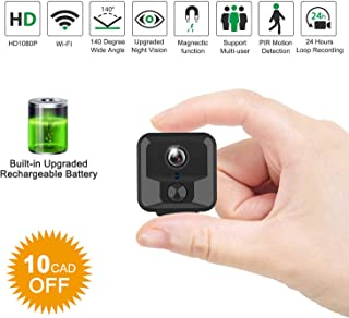 Security Monitor Portable Small Conference Camera for Home and Office. Small Hidden Camera Recorder Peodelk Mini Hidden Camera Spy Cam 1080P HD