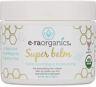 Healing Ointment for Babies USDA Certified Organic Natural Healing Cream for Baby Eczema, Cradle Cap (Infant Seborrheic Dermatitis), Chapped Nose, Rashes, Hives & More 4oz Era-Organics