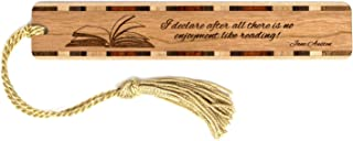 Jane Austen Reading Quote - Engraved Wooden Bookmark with Gold Tassel - Search B07QD28LGY to See Personalized Version