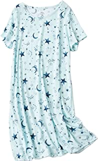 Women's Cotton Nightgown Sleepwear Short Sleeves Shirt...