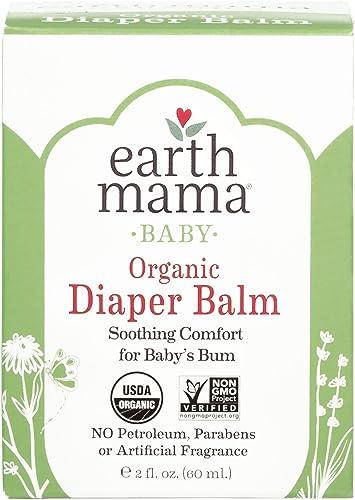 Organic Diaper Balm by Earth Mama | Safe Calendula Cream to Soothe and Protect Sensitive Skin, Non-GMO Project Verifi...