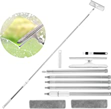 Window Squeegee Cleaner, Homga 2 in 1 Window Cleaning Tool with 95in Extension Pole & 180° Rotary Head Window Squeegee Com...