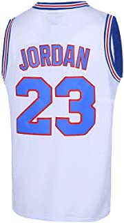 23# Space Movie Jam Bunny Sports Shirts Tune Squad Basketball Jersey Mens (S/M/L/XXL/XXXL White/Blue/Black)