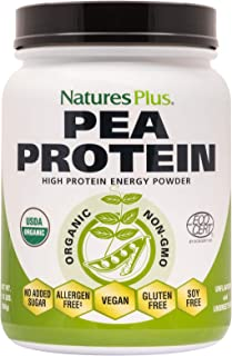 NaturesPlus Organic Pea Protein - 1.1 lbs, Vegan Drink Powder - High Energy Protein Powder, Hunger Suppressant, Muscle Bui...