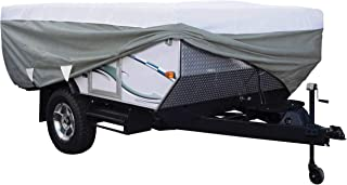 Classic Accessories Overdrive PolyPRO 3 Deluxe Pop-Up Camper Trailer Cover, Fits 16' - 18' Trailers - Max Weather Protecti...