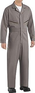 Red Kap Men's Zip-Front Cotton Coverall, Grey, 52