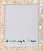 Handicrafts Home Picture Frames Chic Photo Frame Mother of Pearl Handmade Vintage from 8x10 White – Thanksgiving Gifts