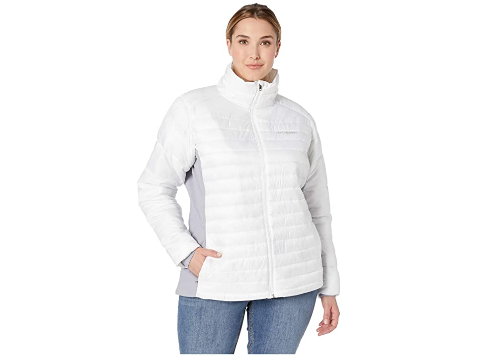 Columbia Plus Size Powder Pillow Hybrid Jacket (White/Astral) Women