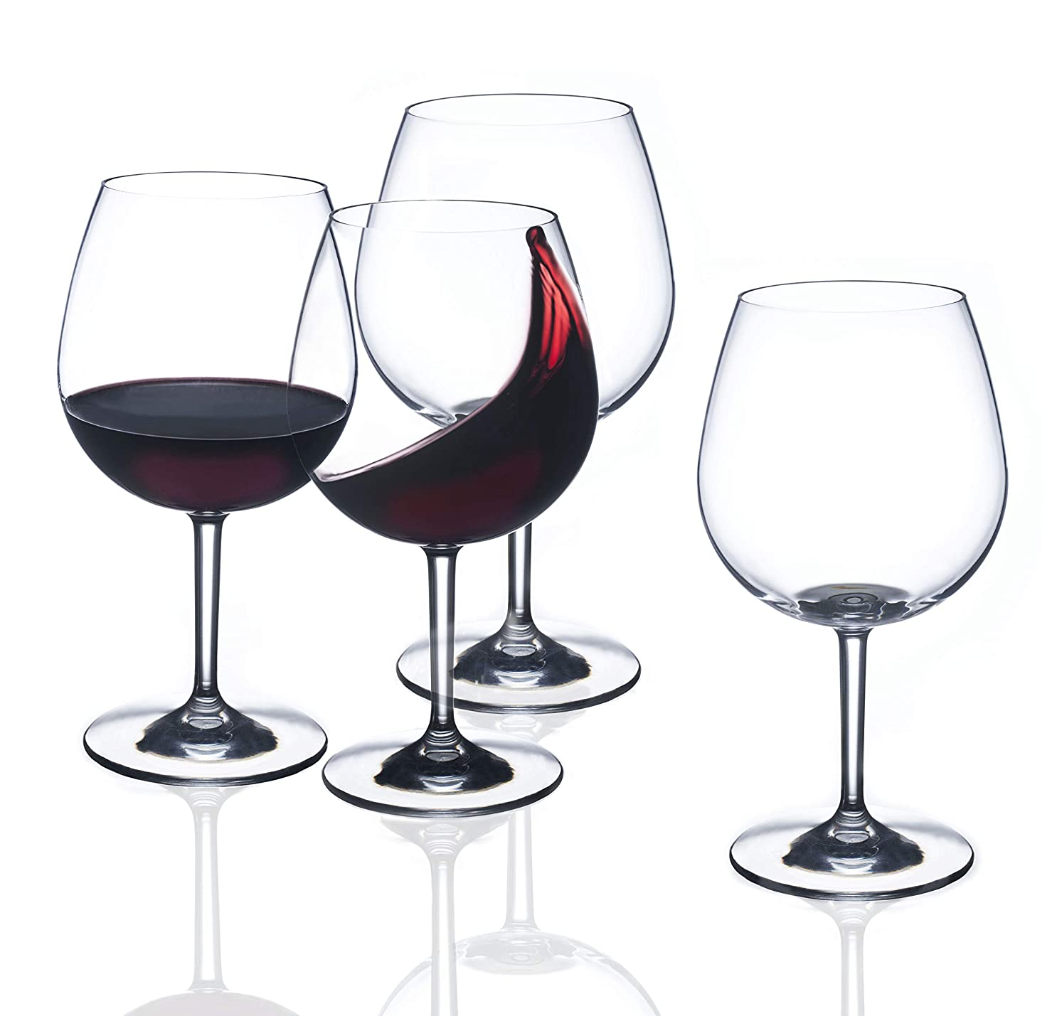 突進従者ディーラー(BURGUNDY GRAND CRU) - FDCuvee Drama Free Unbreakable Stemmed Wine Glass 100% Tritan Dishwasher safe - 680ml Set of 4