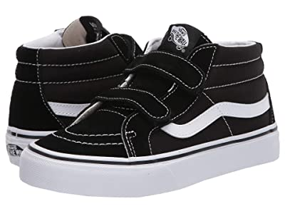 Vans Kids SK8-Mid Reissue V (Big Kid) (Black/True White) Kids Shoes