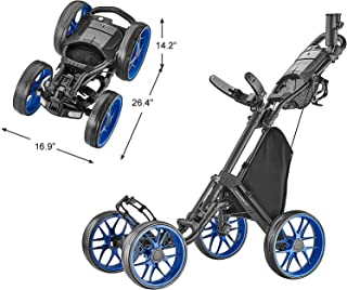 CaddyTek Caddycruiser One Version 8 - یک کلیک سبد فشار گلف تاشو 4 چرخه