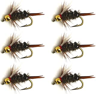 BlitzBite 6pcs / Half Dozen Fly Fishing Bead Head Prince Nymph 12# 14# 16# New