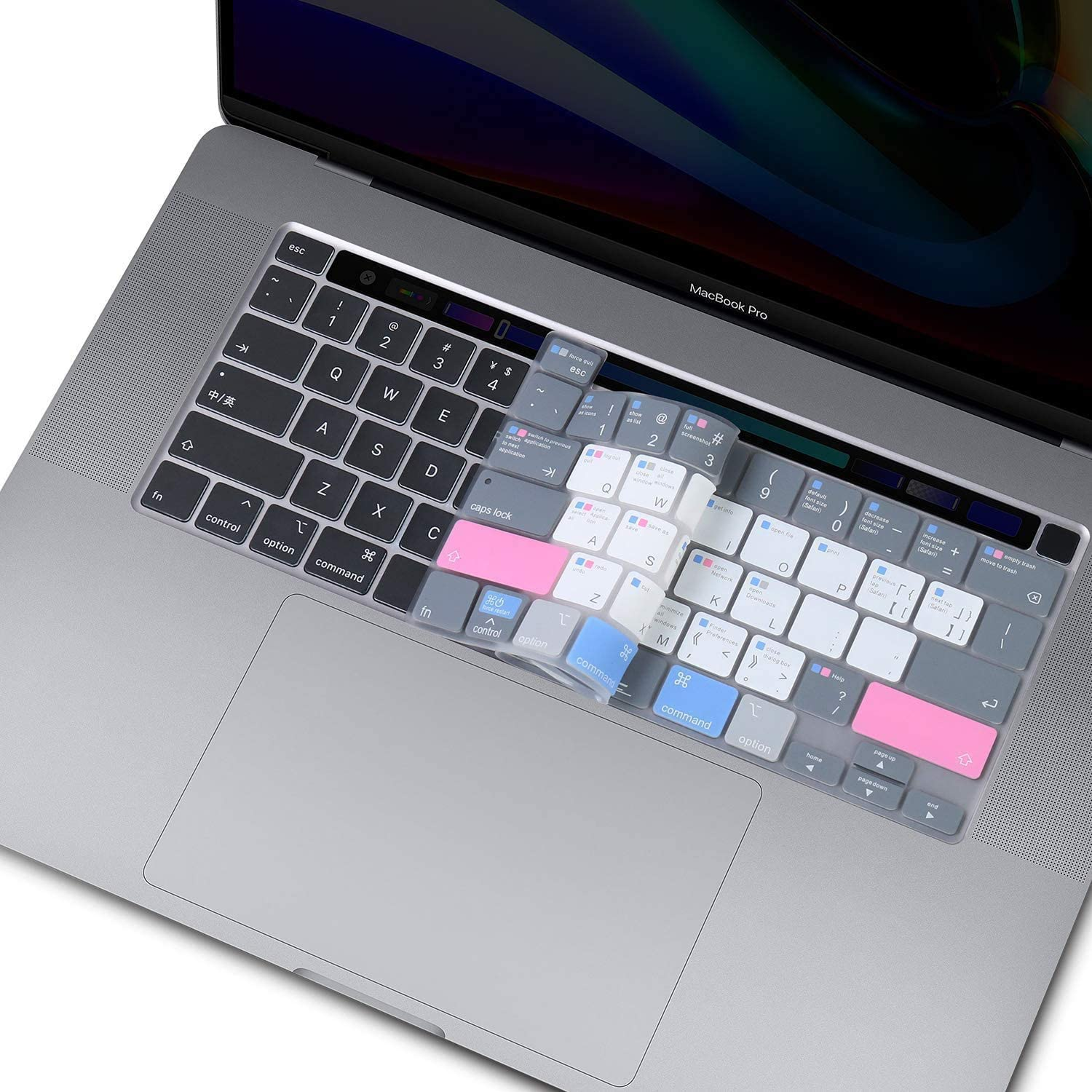 Silicone Mac Many popular brands OS Shortcut Keyboard Cover Pro with for 13 MacBook Super intense SALE