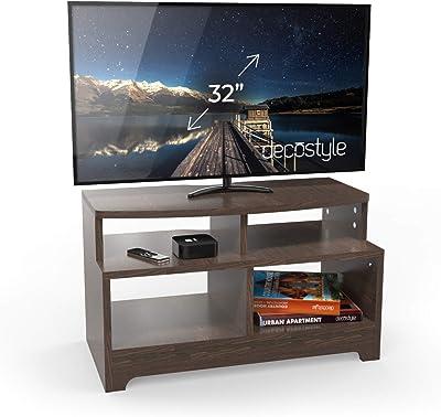 HomeStrap Trends Engineered Wood TV Entertainment Unit Wenge,4 Shelves