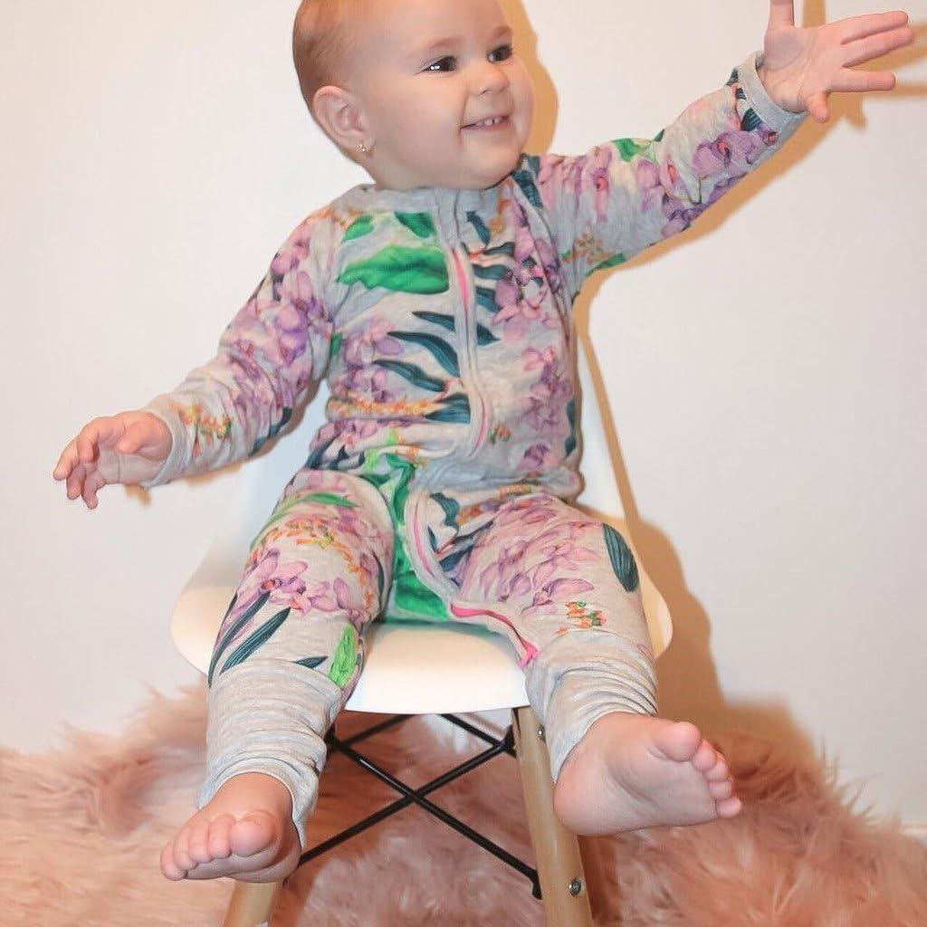 Pigiama Bimba Pagliaccetti Bambino Tutine Neonato Cotone Costume Outfits con Cerniera 3-6 Mesi