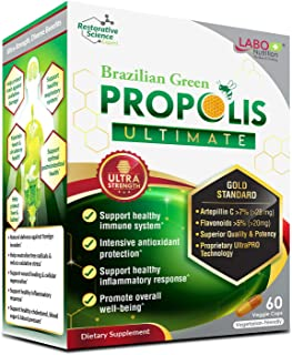 LABO Nutrition Brazilian Green Propolis Ultimate - Contains >7% Artepillin C & >5% Flavonoids, for Immune & Brain Support,...