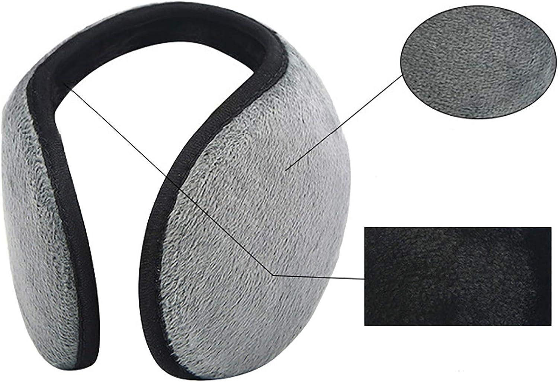 HUIHE 4 PCS Multicolor Fleece Plush Earmuffs Lightweight Unisex Winter Earmuffs for Cold Weather