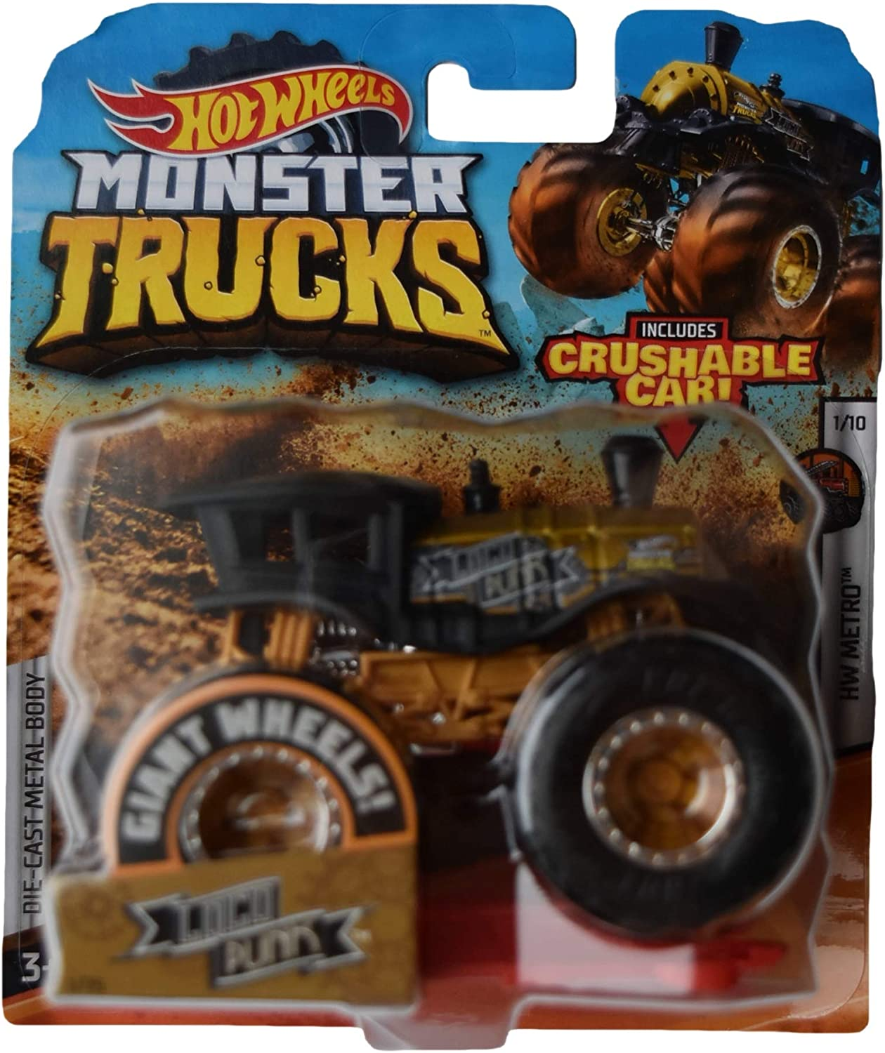 Hot Wheels Monster Trucks 1:64 Scale 1 Punk 75 Loco National uniform free shipping Ca Crushable Spasm price