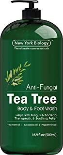 Antifungal Tea Tree Oil Body Wash - HUGE 16 OZ - 100% Pure & Natural - Extra Strength Professional Grade - Helps Soothe Toenail Fungus, Athlete Foot, Body Itch, Jock Itch & Eczema
