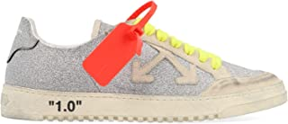 OFF-WHITE Women's OWIA177E19F481059101 Silver Leather Sneakers