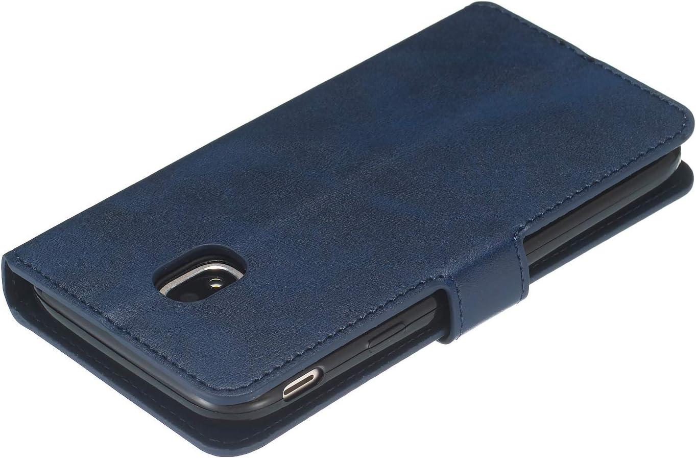 TOYYO080159 Blau Brieftasche Handyh/ülle Klapph/ülle mit Kartenhalter Stossfest Lederh/ülle f/ür Samsung Galaxy J3 2017//J330F Tosim Galaxy J3 2017 //J330 H/ülle Klappbar Leder