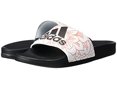 adidas Adilette Comfort (Footwear White/Core Black/Purple Tint) Women