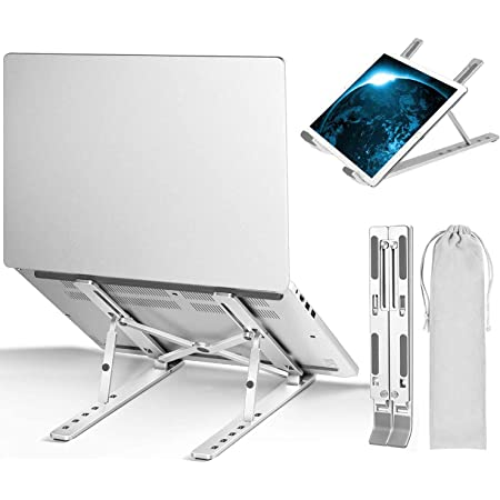 Ventilated Desktop Laptop Holder Foldable Portable Ivory Universal mount stand compatible with all Tablets and Notebooks Laptop stand adjustable ergonomic cooling riser