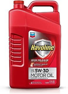 Havoline High Mileage Motor Oil 5W 30 , 5 QT.