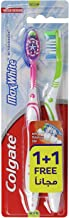Colgate Toothbrush Max White Medium 1+1 - Assorted Colors