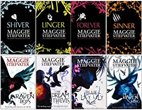 Maggie stiefvater collection wolves of mercy falls, raven cycle series 8 books set