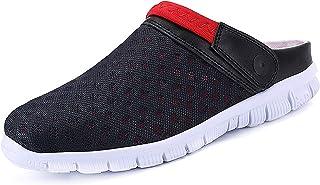 CELANDA Unisex Clogs Breathable Mesh Slippers Garden Shoes for Mens Womens