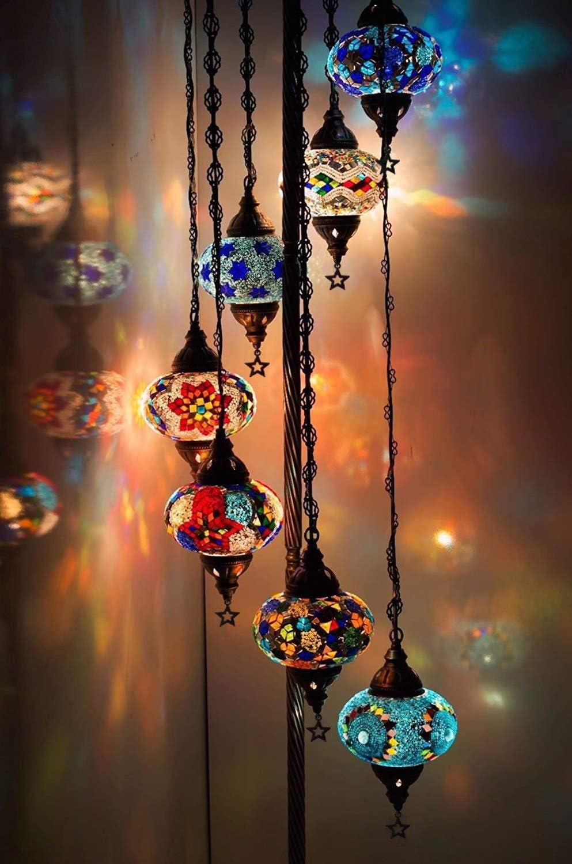 Turkish Lamp Mosaic Lamp Moroccan Lamp Moroccan Lighting Mosaic Ceiling Light Turkish Pendant Turkish Mosaic Lamp