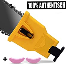 "Anddicek Chainsaw Teeth Sharpener, Universal Chainsaw Sharpener Fast Sharp Sharpening Stone Grinder Tool Fit for 14"" 16"" 18"" 20"" Two Hole Chain Saw Blade Sharpener"
