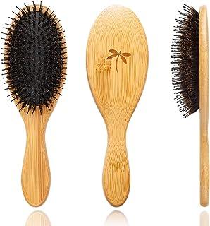 Boar Bristle Hair Brush - Hair Brushes for Women & Mens Hair Brush, Detangler Brush, Hairbrush, Detangling Brush for Long,...