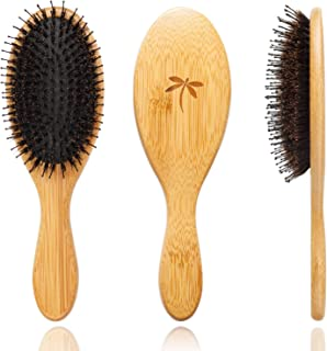 Boar Bristle Hair Brush - Hair Brushes for Women & Mens Hair Brush, Detangler Brush, Hairbrush, Detangling Brush for Long, Curly or Any Type of Hair.