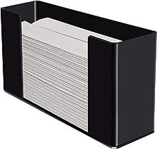 Kantek 手套分配器,单盒容量,透明丙烯酸 Black Acrylic Paper Towel Dispenser 11.5 x 6.75 x 4.2 Inches 黑色