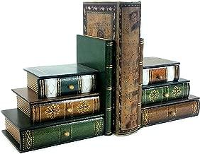 Bellaa 25389 Book Bookends with Hidden Compartments Desktop Organizer 7 inch