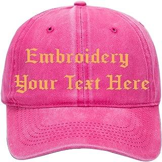 Custom Embroidered Baseball Hat,Personalized Hat,Trucker Cap for Men/Women(Black)