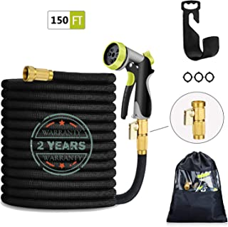 HmiL-U 150FT Expandable Garden Hose-Strongest Water Hose with Double Latex Core, 3/4