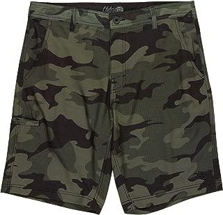 Dahui Mens Hybrid Stretch Board Shorts (30, Olive Camo)
