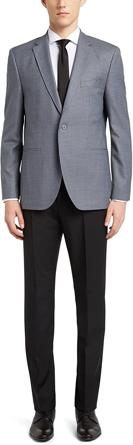 Hugo Boss Men's Time sale 'Jedson' Now on sale Checked 100% Wool Spor Virgin Turquoise