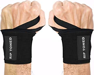 "Rip Toned Wrist Wraps 18"" Professional Grade with Thumb Loops – Wrist Support.."