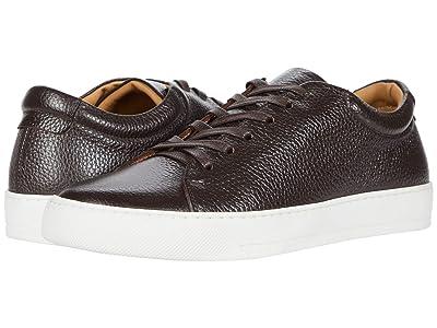 eleventy Leather Tennis Sneaker (Brown) Men