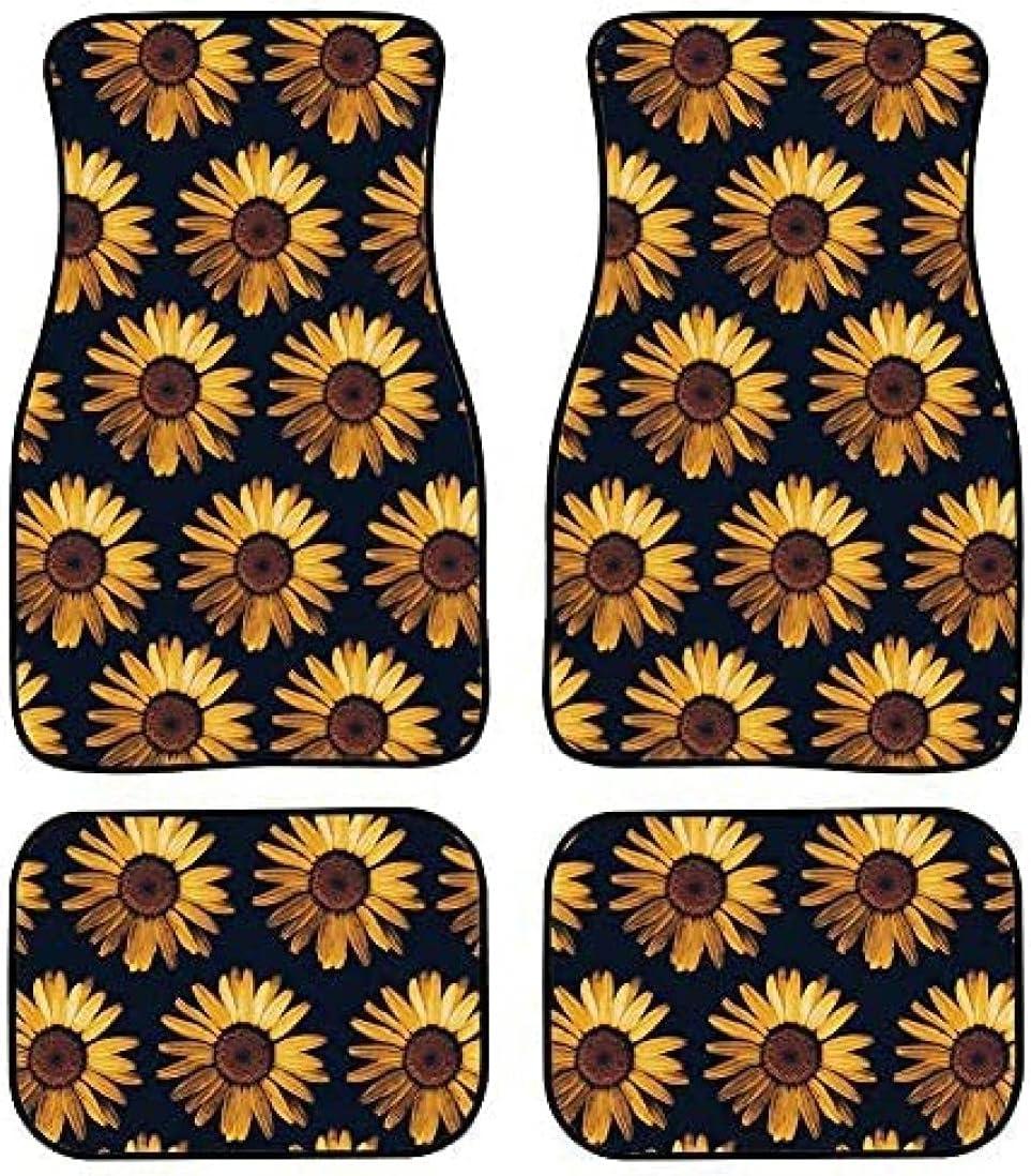 4 Pieces Car Max 51% OFF Mat Carpet Floor Chrysanthemum Max 49% OFF Mats No Blooming